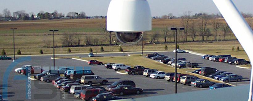 Система відеоспостереження на автомобільній стоянці.